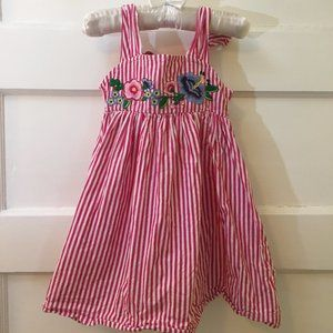 4 for $25/Sundress w/embroidered flowers - 2T